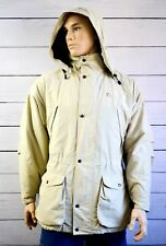 FJALLRAVEN Gore-Tex Mens Jacket Coat Casual Waterproof Outdoor Beige Size Large