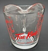 NICE Anchor Hocking Fire King 1 Cup Measuring Glass 496 Red Letters D Handle