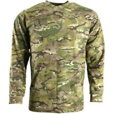 MENS ARMY LONG SLEEVED T-SHIRT S-3XL MTP BTP CAMOUFLAGE TOP CAMO AIRSOFT CADET