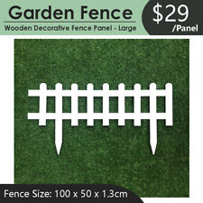 New Outdoor Indoor Garden Patio Wooden Decorative Fence Panel in White - Large
