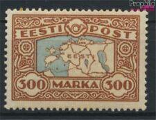 Estonia 54 (complete issue) with hinge 1924 Postage stamp: Map (9276866