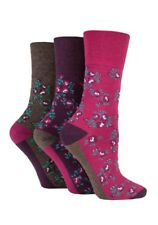 3 pairs Ladies SockShop Cotton Gentle Grip 4-8 uk Socks - NEW variations