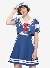 Hot Topic Womens Stranger Things Robin Scoops Ahoy Cosplay Uniform Dress