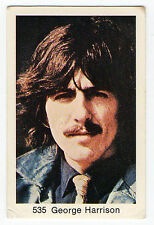 1970s Swedish Pop Star Card #535 Beatles Guitarist George Harrison H&S portrait