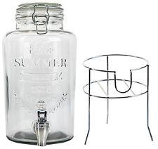 3 Liter Glas-Getränkespender mit Zapfhahn und Ständer Wasserspender Saftspender