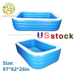 Inflatable Swimming Water Pool Above Ground Pool Kids Family Outdoor Backyard US