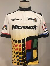 Vtg Sugoi Mens Microsoft 2000 Cycling Jersey Bike Shirt Size 2XL Hardly Worn!