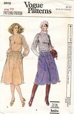 1970's VTG VOGUE Misses' Top and Skirt Pattern 9918 Size 10 UNCUT