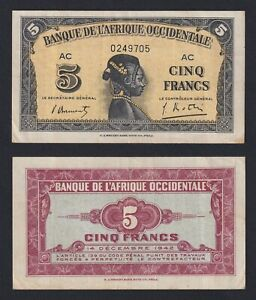 Africa Occidentale Francese - 5 francs 1942 BB+/VF+  B-09