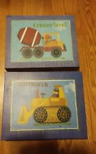 Children's Construction or Bear Theme Wall Art Baby Room 2 Pieces