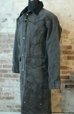 Schaefer Outfitter Duster Riding Coat Black Canvas Arapaho Men's XS Fits Big USA