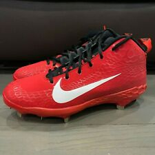 Nike Men's Force Zoom Trout 5 Pro Baseball Cleats Size 10 Red White AH3372-601