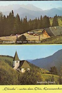 Kärnten, Eisenkoppler Hütte mit Steiner Alpen, Bergkirche Ebriach ngl F1132