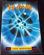 DEF LEPPARD 7 DAY WEEKEND 1992 TOUR PROGRAMME