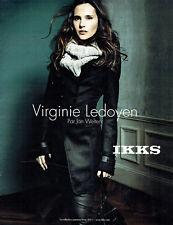 Publicité Advertising 107   2011  Virginie Ledoyen par Jan Welters IKKS pret à p