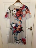 Ladies Phase Eight Dress Size 12 Formal Wedding Guest Floral Aline
