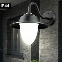 XXL Wand Leuchte Schwarz für Außen 51cm E27 wetterfest Balkon Haus Laterne Lampe