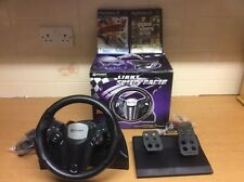 GAME EXPERT LIGHT SPEED RACER HS2230 RACING STEERING WHEEL FOR PS2 XBOX GAMECUBE