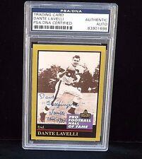 1991 ENOR PRO FOOTBALL HOF CARD #85 DANTE LAVELLI PSA/DNA SIGNED AUTO NFL BROWNS