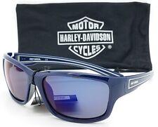NEW* Harley-Davidson HD902X Dark Blue polished frame with Blue lens Sunglass