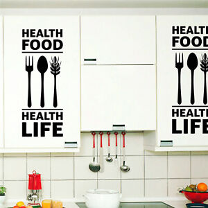 Kitchen Wall Quotes Art Food wall Vinyl stickers Home decals art posters Sofa