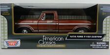 1:24 MOTOR MAX *1979 FORD F150 PICKUP TRUCK* Brown *DIECAST* NEW IN BOX!