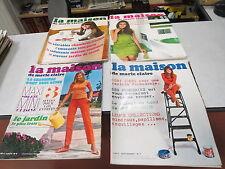 LOT DE 4 REVUE LA MAISON DE MARIE CLAIRE N° 6 7 8 10 1967 INCOMPLET *