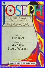 Playbill + Joseph and the Amazing Technicolor Dreamcoat + Deborah Gibson