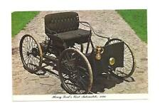 DEARBORN MI Ford Museum 1896 Quadricycle Vtg Postcard