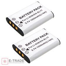 2pcs EN-EL11 D-LI78 Battery For Nikon Coolpix S520 S550 S560 - 1000mAh - Formax