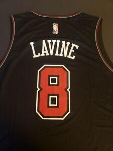 Zach LaVine Lg  Chicago Bulls Fanatics Fast Break Replica Black Jersey Mens  NWT