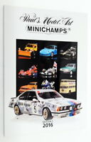 Minichamps Model Car Fully Illustrated A4 Catalogue ED12016 - Edition 1 2016