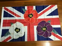 2020 British Union Jack  Remembrance Day Red Poppy Military Solider Veteran Flag