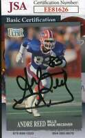 Andre Reed 1991 Fleer Ultra Jsa Coa Hand Signed Authentic Autograph