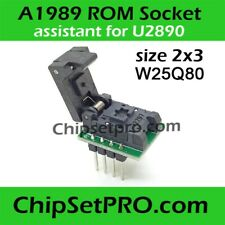 A1989 Rom Socket Assistant U2890 Notebook Chip W25Q80DVUXIE Adapter USON 2x3 0.5