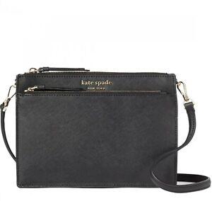 Kate Spade Cameron Zip Crossbody Bag in Black