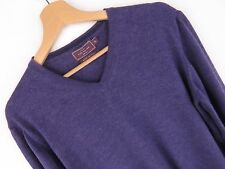 at4680 John Lewis Vintage Pull original violet laine taille XL