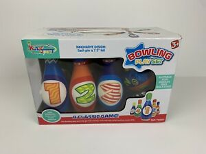 Numbers Foam Bowling Set Kids Children Toy Games Gift 6 Pins and 1 Ball