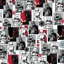 Star Wars The Force Awakens The Dark Side Patchwork Fabric 50cm(1/2mtr) -7770079