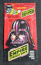 1980 STAR WARS Empire Strikes Back Trading Card BOX ONLY Darth Vader Red VG+