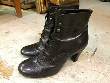 Vtg '80 CO OP BARNEYS NEW YORK granny steampunk victorian  womens boots sz 38