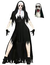 Para mujer terrible monja Fancy Dress Costume Zombie Monja Halloween Disfraz De Ley Hermana