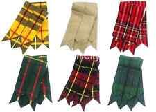 Flashes écossais pour chaussettes de kilt choix motifs carreaux Highlands pointu