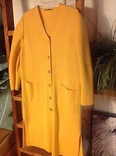 vintage devernois paris gold button down dress coat knit wool euc sz xl