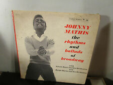 Johnny Mathis - The Rhythms and Ballads of Broadway LP~