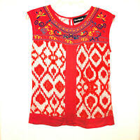 CHRISTIAN LACROIX DESIGUAL Multicolor Embroidered Top Size S