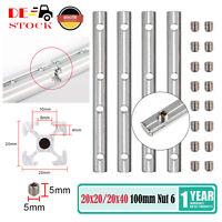 1000 x 20 x 20mm in schwarz LaGER Alu-Profil-Schiene V-slot Linearführung LxBxH