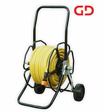 GREENLINE - Rugged wheeled metal hose reel with 50-metres of 12mm Extraflex Hose