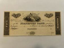 $5 Frankfort Bank (Kentucky) Promissory Note, 18_, Unissued.