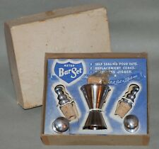 VINTAGE COCKTAIL BARWARE SET BY METRO MFG. COMPANY, CHICAGO IN ORIGINAL BOX